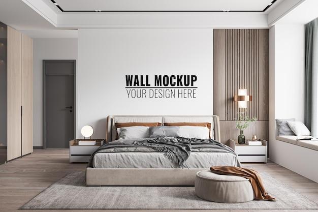 Maquete de parede interna do quarto, renderização em 3d