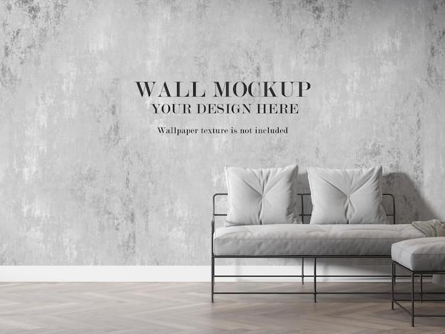 Maquete de parede interna em renderização 3d