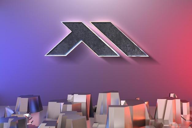 Maquete de parede moderna