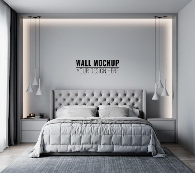 Maquete de parede no interior do quarto