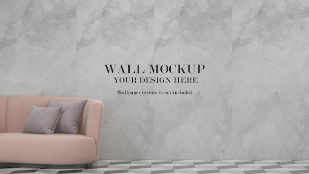 Maquete de parede para suas texturas