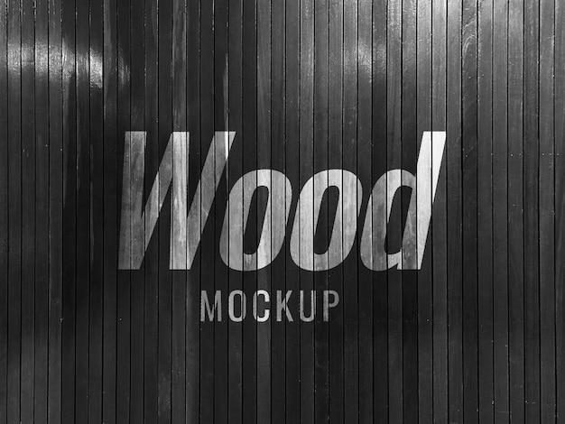 Maquete de parede preta textura de madeira realista