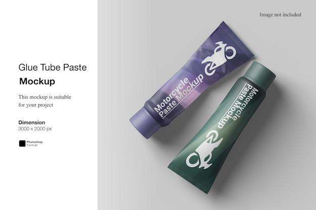 Maquete de pasta de tubo de cola