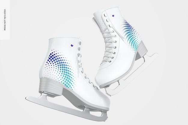 Maquete de patins de gelo, flutuante