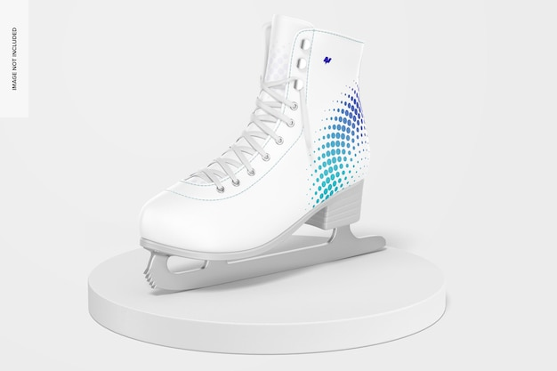 Maquete de patins de gelo, vista direita