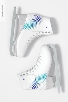 Maquete de patins de gelo, vista superior