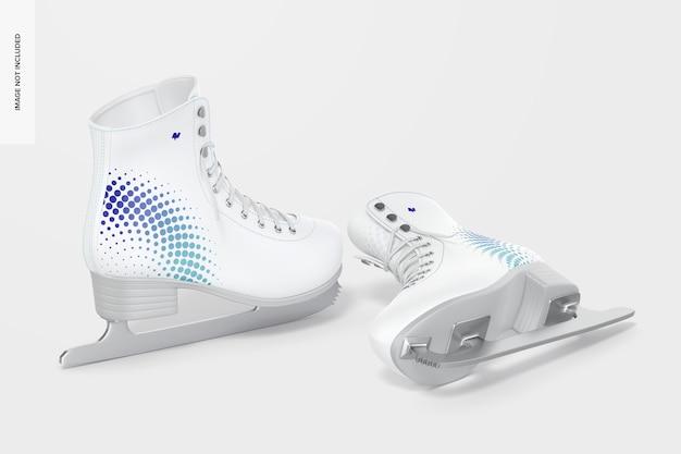 Maquete de patins de gelo
