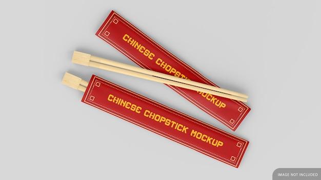 Maquete de pauzinho de bambu asiático