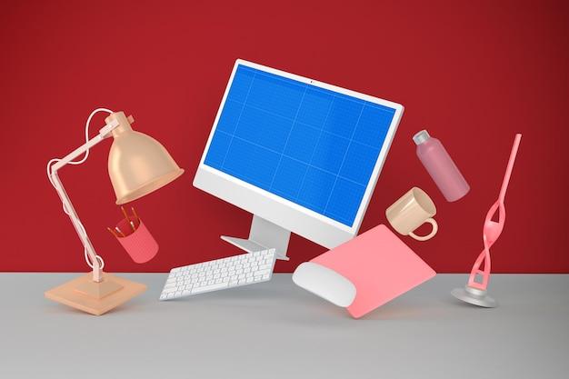 Maquete de pc desktop