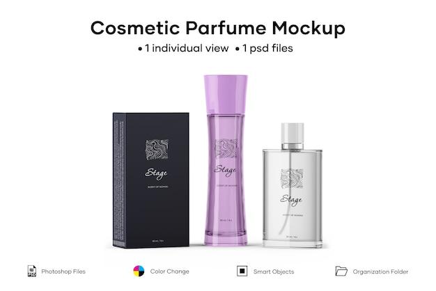 Maquete de perfume cosmético