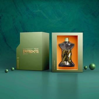 Maquete de perfume de luxo