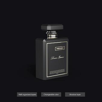 Maquete de perfume em design de renderização 3d