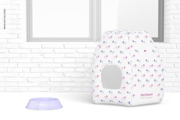 Maquete de pet house, perspectiva
