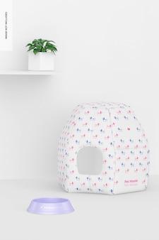 Maquete de pet house, vista frontal
