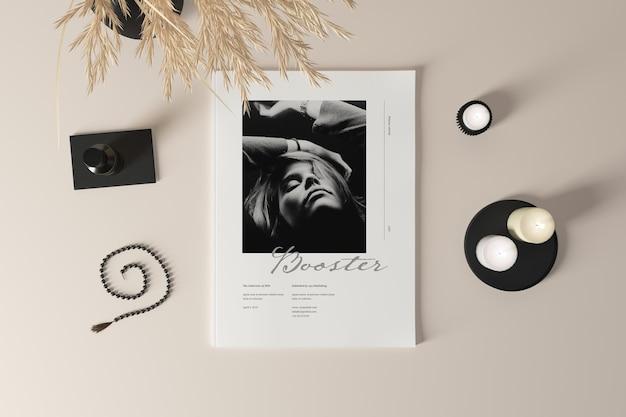 Maquete de photoshop para capa de revista