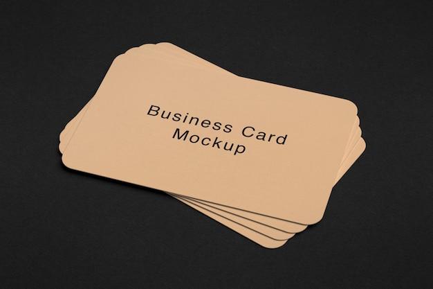 Maquete de pilha de cartão de visita de luxo