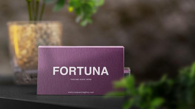 Maquete de pilha de cartão de visita elegante e mínima psd premium