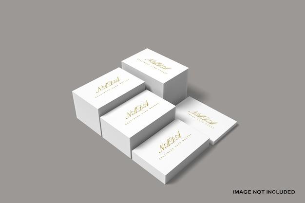 Maquete de pilha de cartão de visita