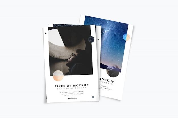 Maquete de pilha de panfleto