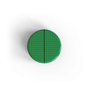 Maquete de pin de botão brilhante