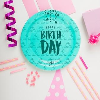 Maquete de placa de aniversário