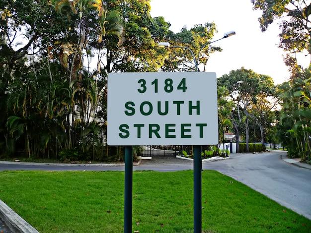 Maquete de placa de rua