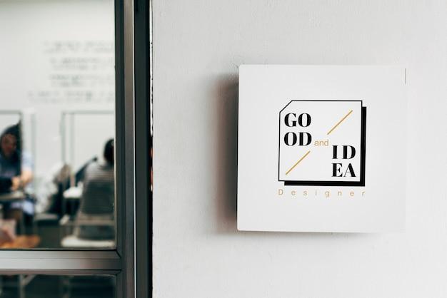 Maquete de placas de sinal de parede