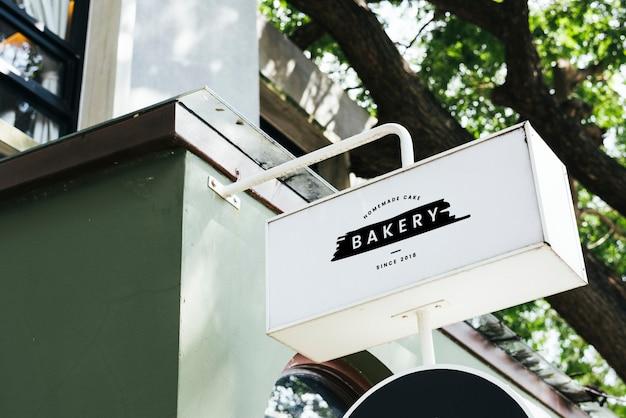Maquete de placas de sinal de restaurante