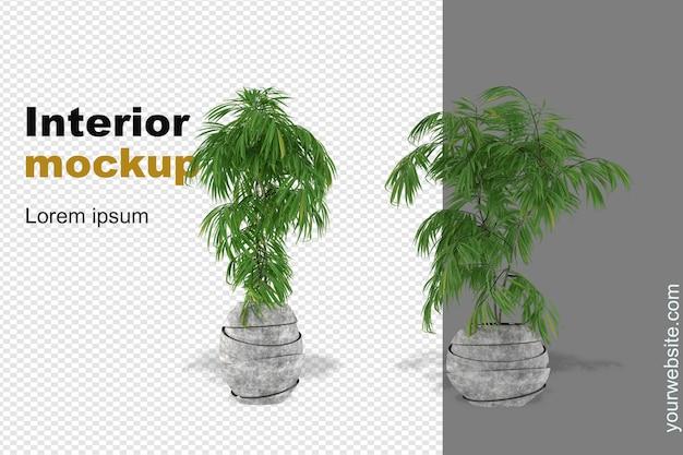 Maquete de planta renderizada em 3d