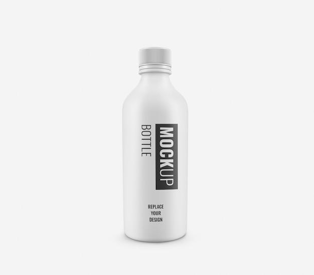 Maquete de plástico branco de garrafas