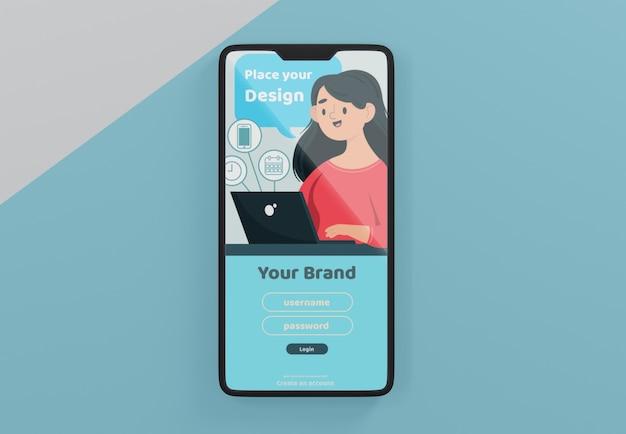 Maquete de plataforma de mídia social