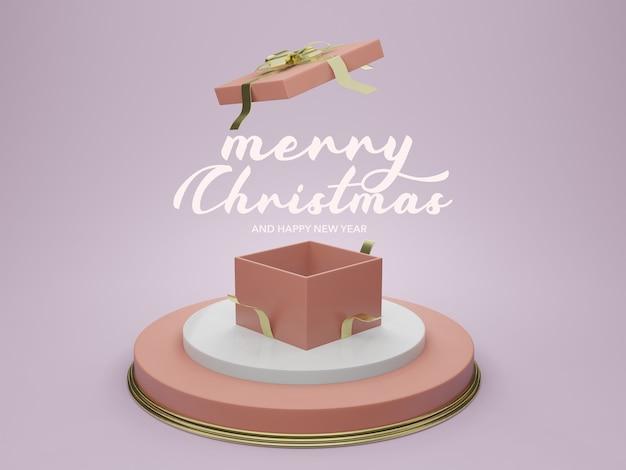 Maquete de pódio de modelo vazio de natal