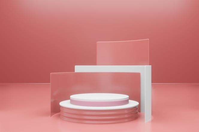 Maquete de pódio vazio com renderização 3d