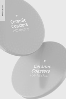 Maquete de porta-copos de cerâmica, flutuante