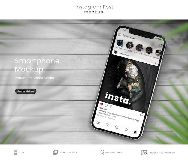 Maquete de post do instagram