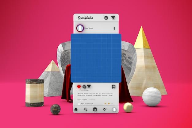 Maquete de postagem de mídia social abstrata