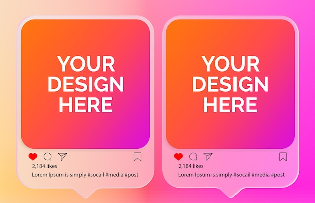 Maquete de postagem do instagram ou maquete da postagem de mídia social