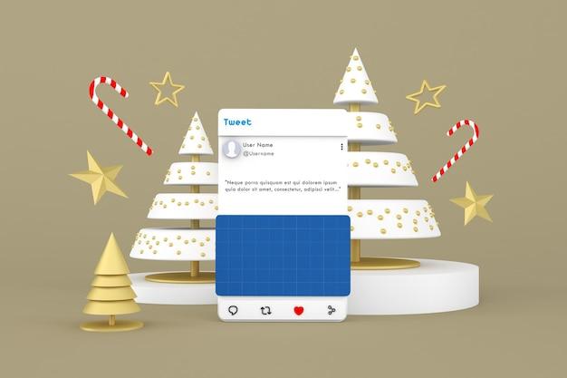 Maquete de postagem nas redes sociais de natal
