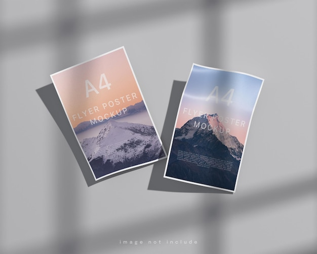 Maquete de pôster a4 flyer