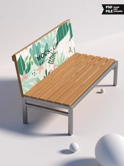 Maquete de pôster de cadeira de jardim