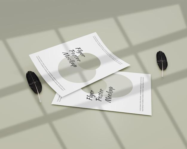 Maquete de pôster de flyer elegante