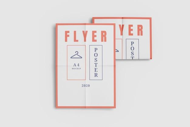Maquete de pôster de panfleto isolada