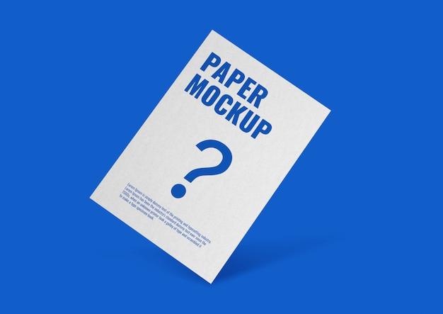 Maquete de pôster de papel