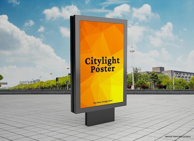 Maquete de pôster do citylight ao ar livre