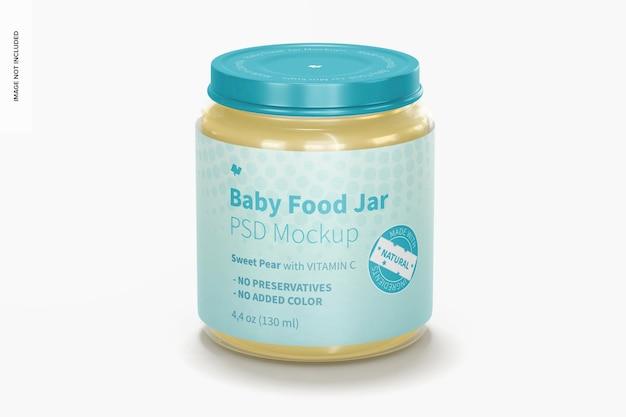 Maquete de pote de comida para bebê, vista frontal