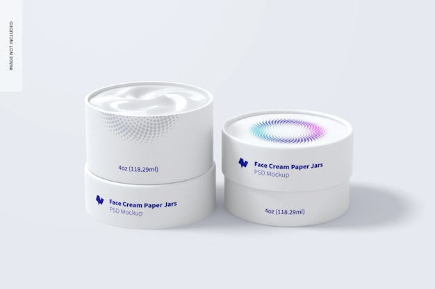 Maquete de potes de creme facial de 4 oz