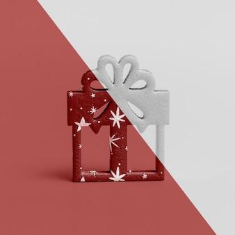 Maquete de presente de natal ornamentais