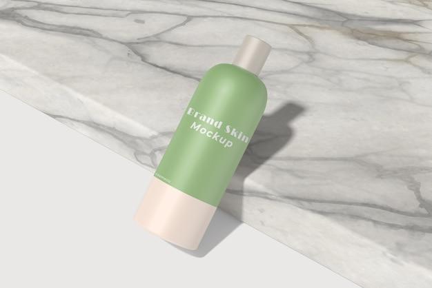 Maquete de produto cosmético em creme elegante