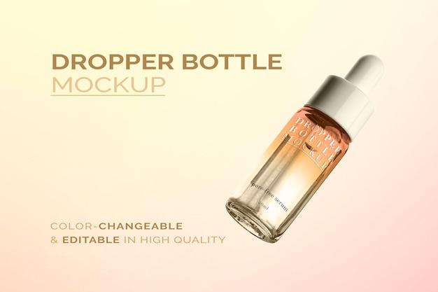 Maquete de produto cosmético psd para beleza e cuidados com a pele