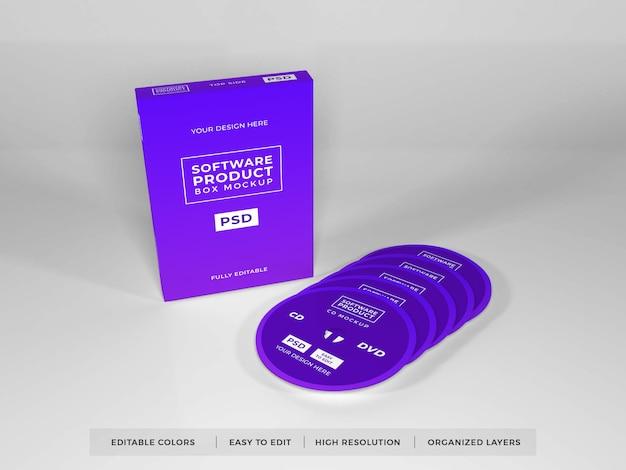 Maquete de produto de caixa de software realista